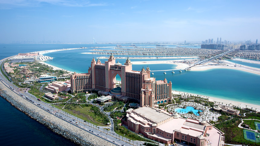 Dubai City and Atlantis